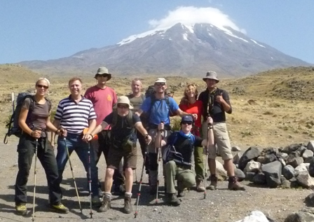 Mount Ararat in August, driest month, meltback to 4600 meters